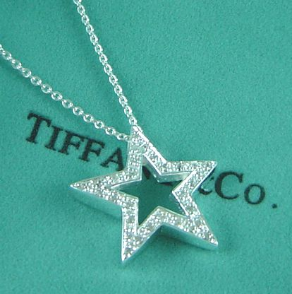 tiffany diamond star necklace