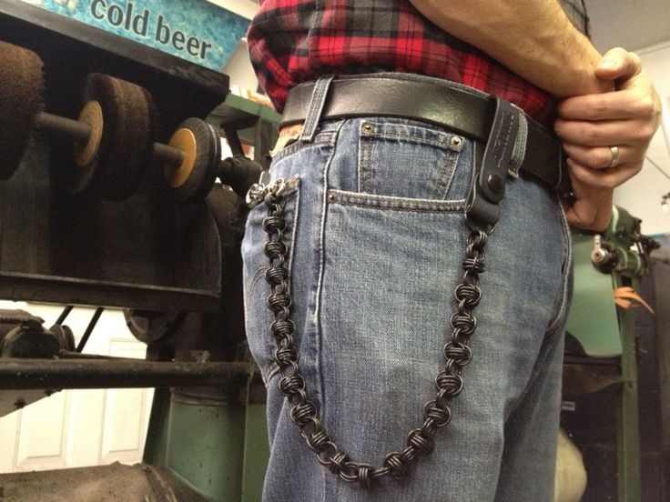 Whiskey Barrel Chainmaille Wallet Chain