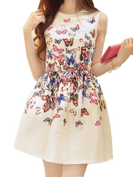 Lovely white/butterfly dress