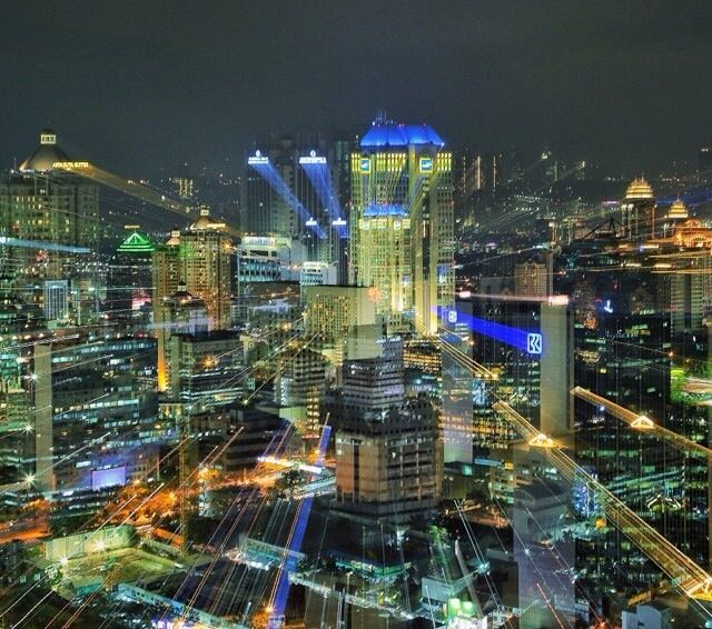 Jakarta City on Night. Indonesia