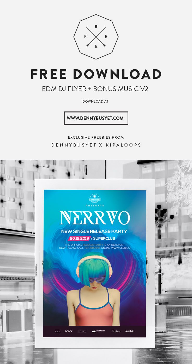Poster design free download - Free Download Edm Dj Flyer Templates Link Http Dennybusyet Com