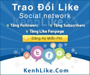 Kênh Like là một hệ thống giúp bạn trao đổi Like, tăng Like, tăng chia sẻ trang web của bạn trên các trang mạng xã hội như: Facebook, Youtube, Google +, Twitter … hỗ trợ tăng lượng truy cập vào website của bạn qua các hoạt động Click trao đổi giữa các thành viên đang tham gia trên hệ thống.