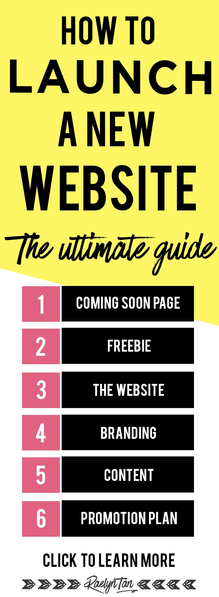 How to launch a brand new website: Launch ideas and tips for your business! Marketing, social media, how to have a successful launch (