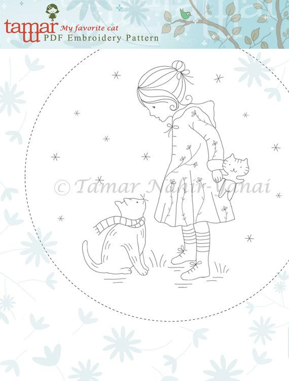 Embroidery Pattern Instant Download My by TamarNahirYanai on Etsy