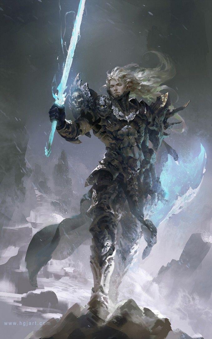 Rurick Gryrion- Príncipe del reino de Gryrindelle , portador de la luz.------------------------ Guangjian Huang Concept Art