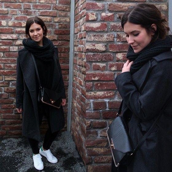 H&M Oversize Coat, Primark Handbag, Adidas Stan Smith Sneakers