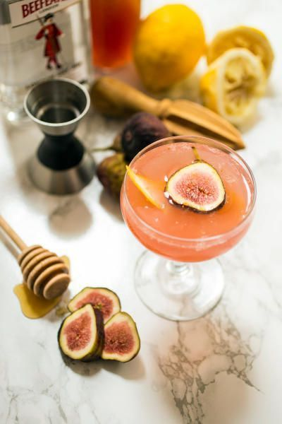 Fig Bees Knees recipe is great with a little cheese and bread. A new cocktail for the weekend or maybe your next party.