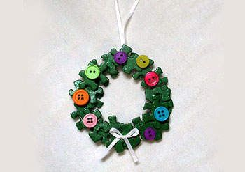 Puzzle Wreath Ornament