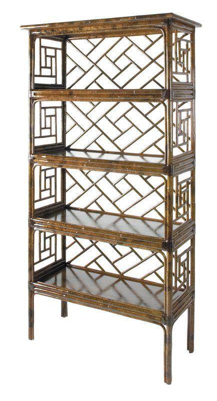 "Chippendale 69"" Accent Shelves Bookcase"