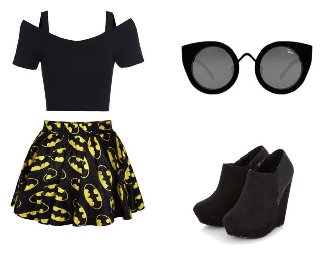 """""""vestido de batman"""" by monse-gmz ❤ liked on Polyvore featuring beauty and Quay"""