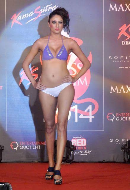 Beauty Of Legs Hot Indian Model In Sensational Bikini Walk At Mis