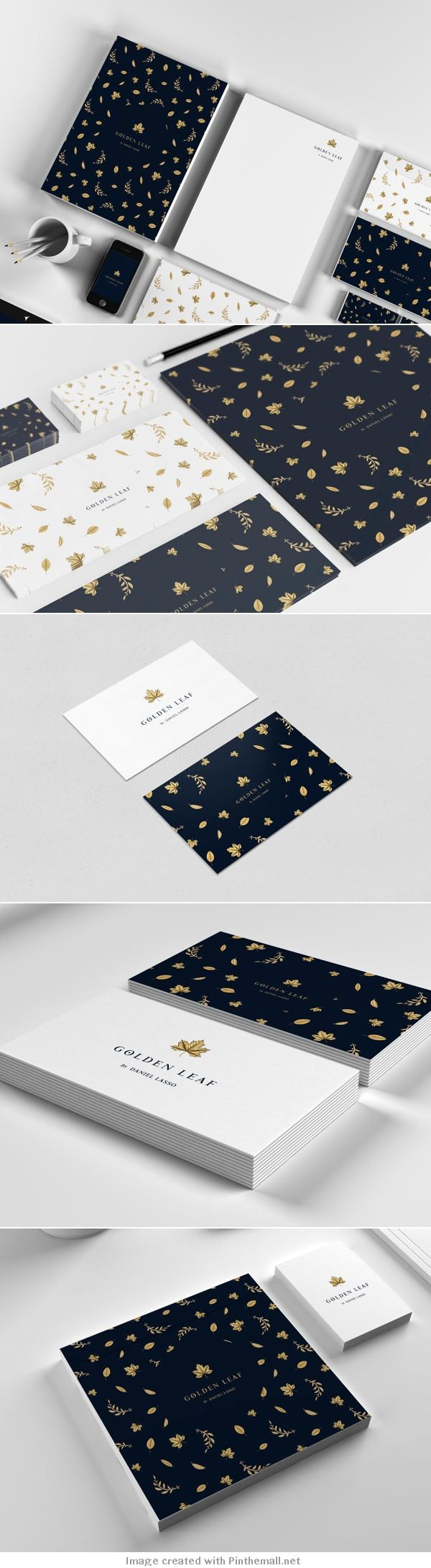 Golden Leaf Branding by Daniel Lasso Casas