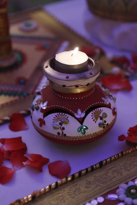 Jaz up things a little bit! Place a candle on top of 'Kalash' in the wedding ceremonies, or use it just for decoration. How would you pull it off?