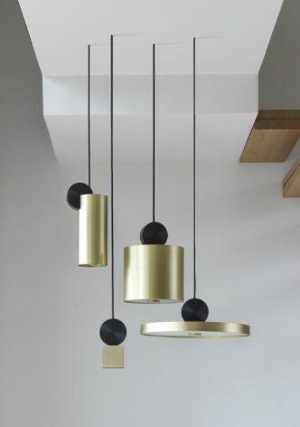 nouvelle suspension design géométrique laiton bicolore - Le blog déco de MLC