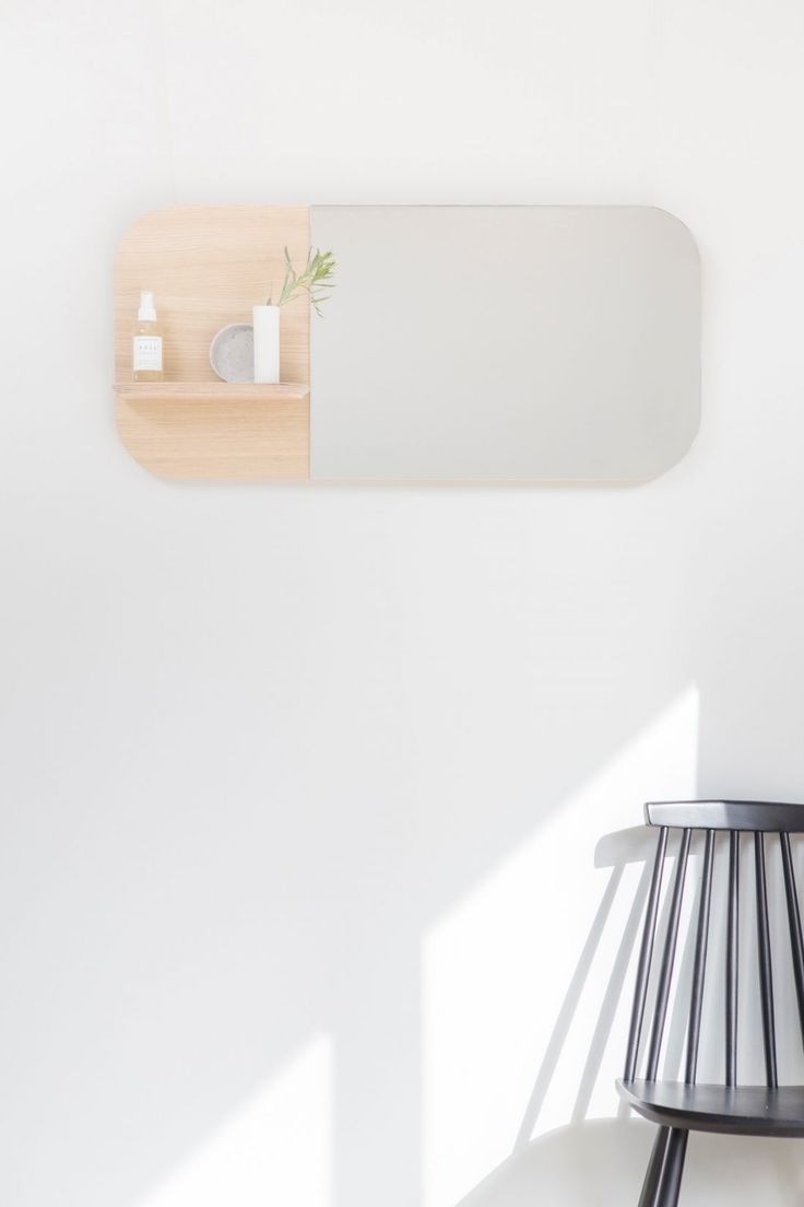 Sight mirror combines beauty with fashion. Made of water-resistant oak-veneered birch plywood. Available in 3 sizes