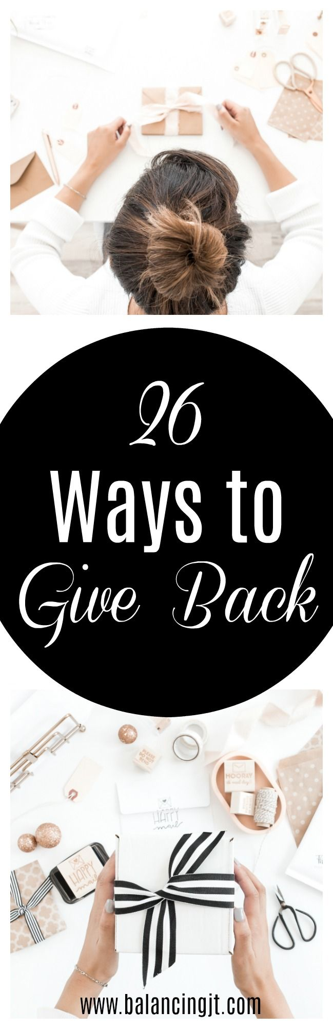 Ways to Give Back - ideas include organizations to donate to, volunteer opportunities, charity ideas, fundraiser ideas.