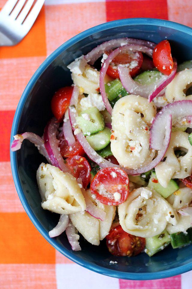 トルテリーニの地中海サラダのレシピ