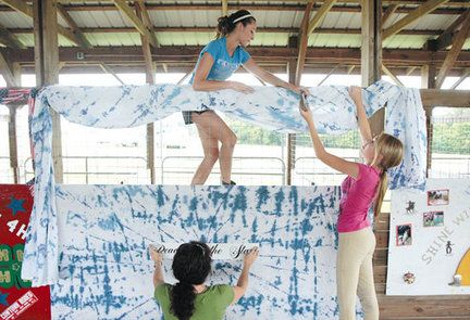 4-H Stall Decorations | busy day of preparations for the annual Salem County Fair