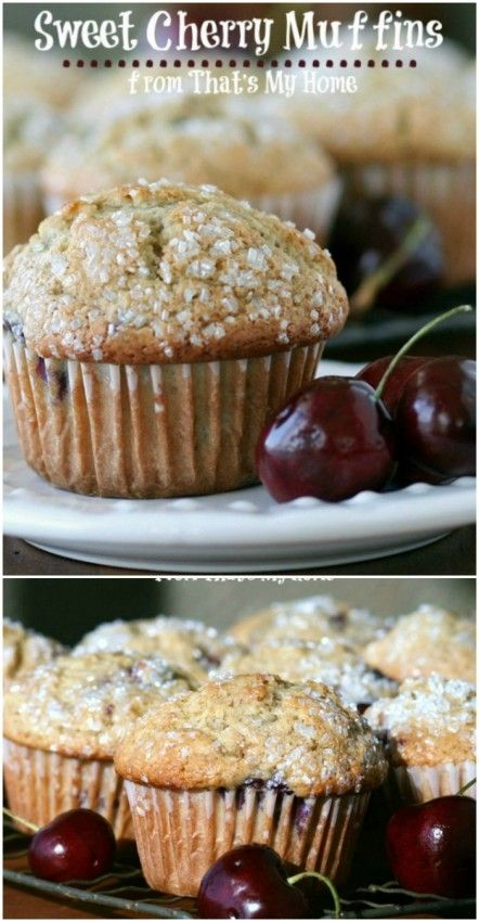 Cherry Muffins www.thenymelrosefamily.com #muffins #cherry_recipe