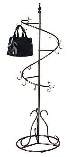 Purse Handbag Metal Display Tree Stand / Coat Rack, Brown Painted Finish SunRise http://www.amazon.com/dp/B006FIZHEK/ref=cm_sw_r_pi_dp_JgTevb1N3QY7K