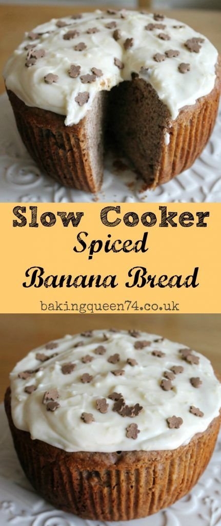 Slow cooker spiced banana bread - bake this deliciously spiced treat in your slow cooker and fill your home with lovely wintry aromas