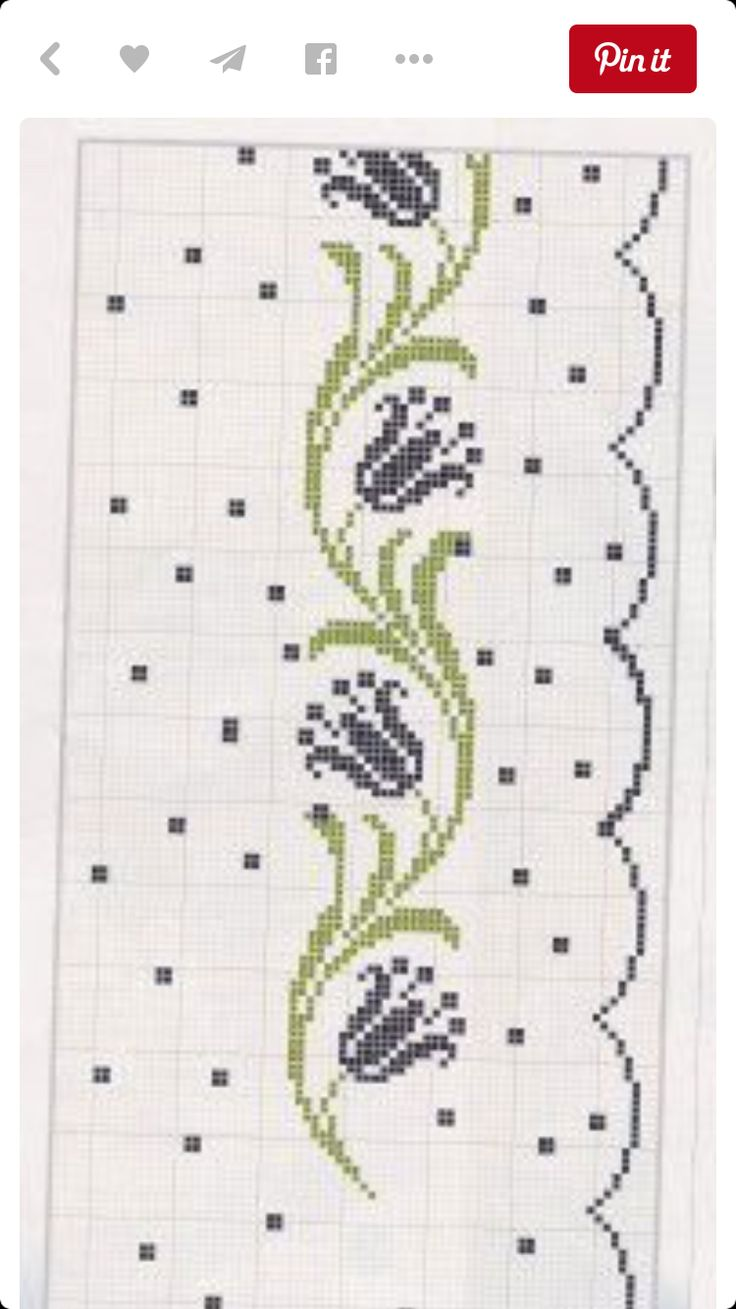 Stitch border on each side for bookmark