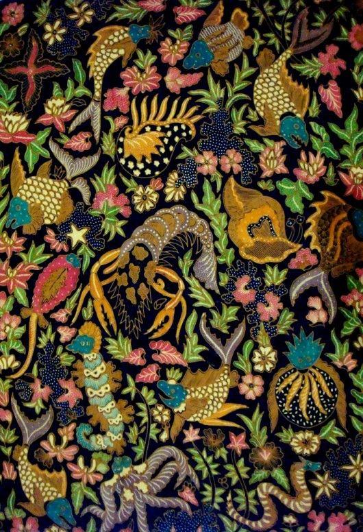 #BATIK INDONESIA - Batik Solo (biota laut)