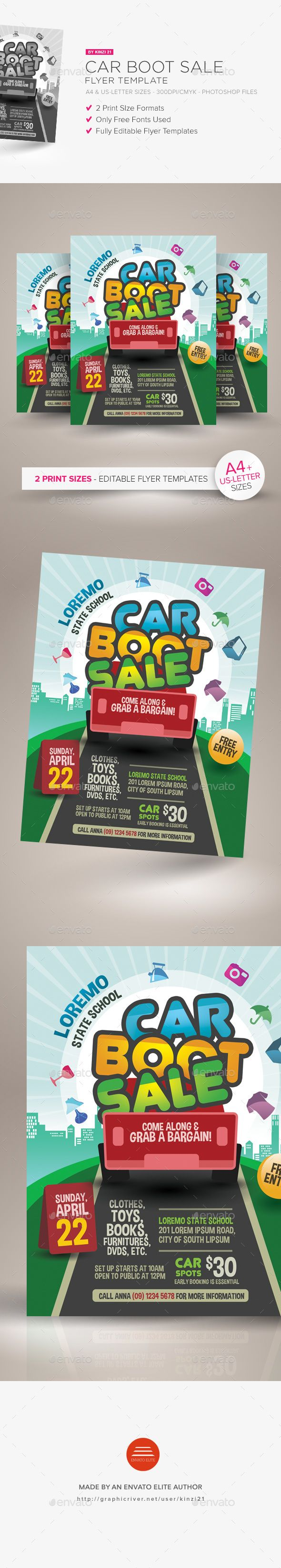 Car Boot Sale Flyer Template — Photoshop PSD #boot #yard • Download ➝ https://graphicriver.net/item/car-boot-sale-flyer-template/21204331?ref=pxcr
