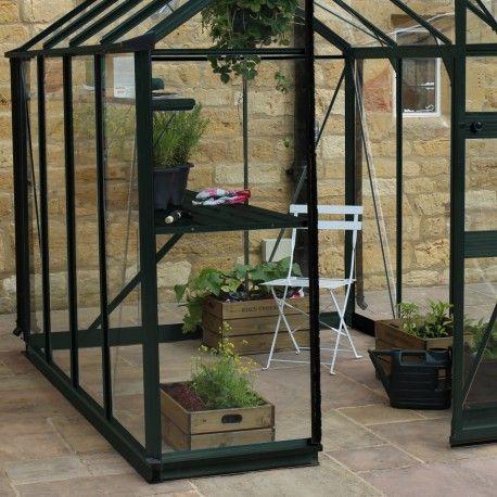 Serre de jardin 6,17m² en verre trempé BURFORD noire Eden Greenhouses