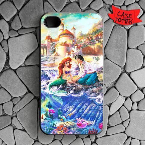 Disney Ariel And Eric iPhone 4 iPhone 4S Black Case