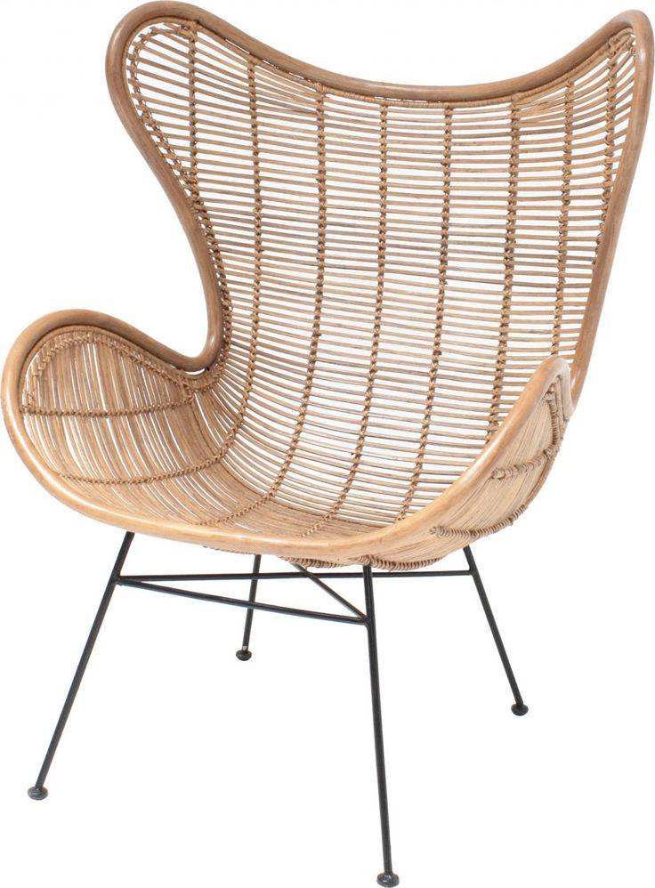 De stoel Egg uit de HK Living zwart collectie onderscheidt zich door zijn stijlvolle vormgeving en prachtige uitstraling....