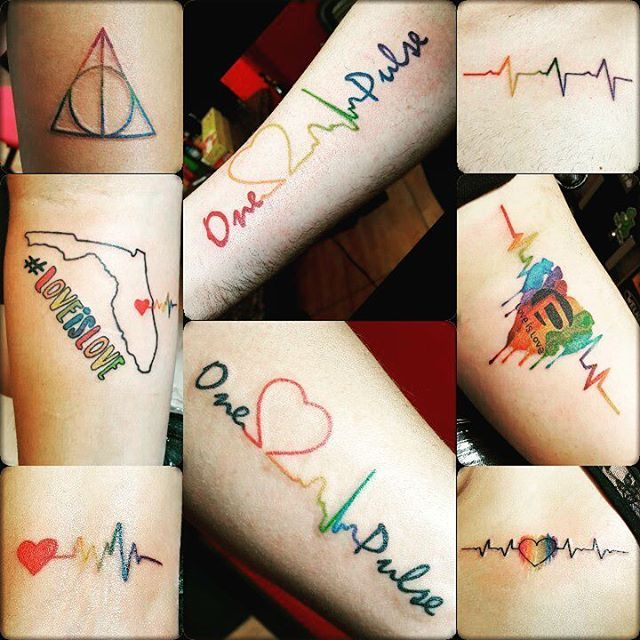 Pulse LGBT pride tattoo