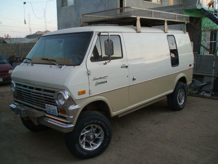 06 Econoline With Roof Basket Google Search Van