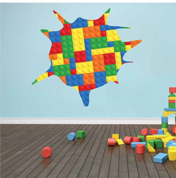 Lego Wall Decal Kid's Room Wall Decal Lego Wall Art by PrimeDecal