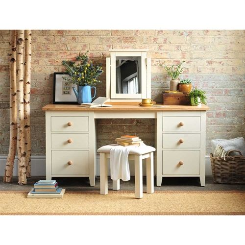 Mottisfont Painted Large Dressing Table Set (L571) with Free Delivery | The Cotswold Company
