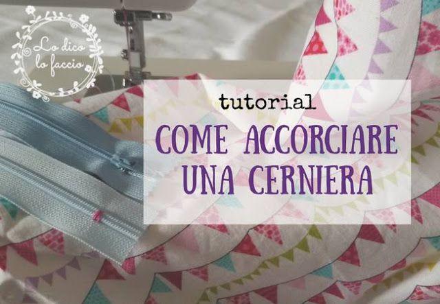 Come accorciare una cerniera  http://www.lodicolofaccio.it/2017/05/come-accorciare-una-cerniera.html