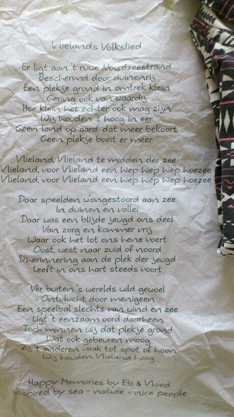 eb & vloed verpakking met vlielands volkslied