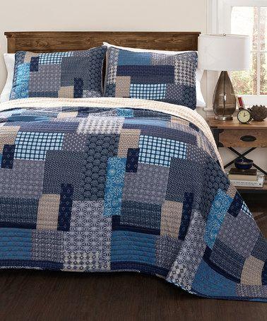 Love this Blue Ethan Quilt Set on #zulily! #zulilyfinds