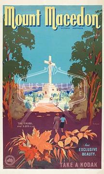 Mount Macedon  James Northfield  Australian Vintage Posters