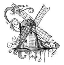 small windmill tattoo - Google Search