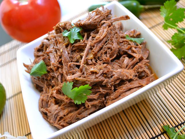 Use your slow cooker to make this tender shredded taco beef that is perfect for burritos, tacos, and more.