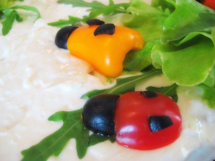 Ladybug decoration for sandwich cake