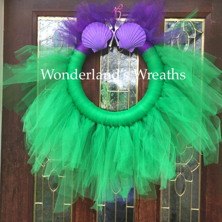 Little mermaid/Ariel inspired tulle wreath! One of my favorites I've designed The princess inspired collection just keeps on growing! Sleeping Beauty tomorrow/Disney wreath/wreaths
