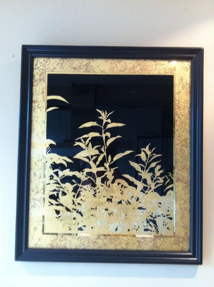 Eglomise by emily swift jones hand painted with water and for Mirror meaning