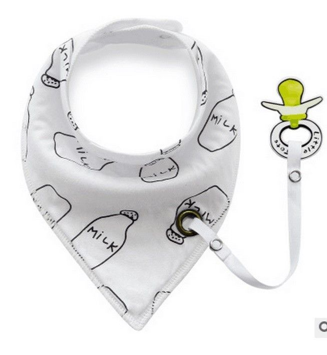 Adorable Bib with Pacifier Clip