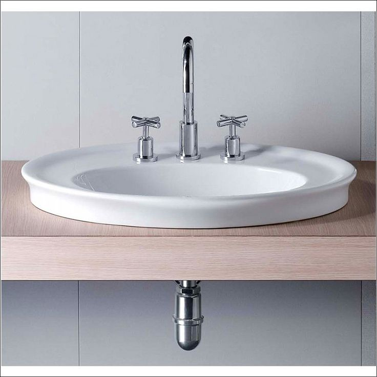 Klassisk håndvask til nedfældning i bordplade