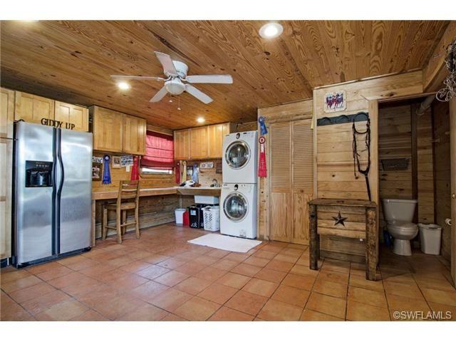 Gorgeous stable / tack room - Golden Gate Estates horse property in Naples, FL