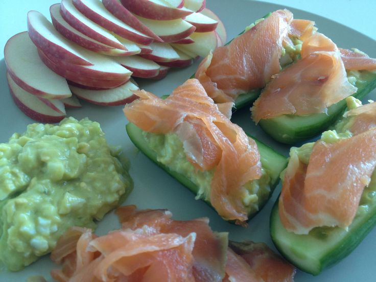 Cucumber Boats with Salmon