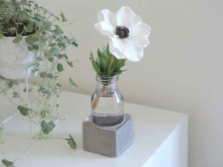 DIY beton vase // Concrete glass vase