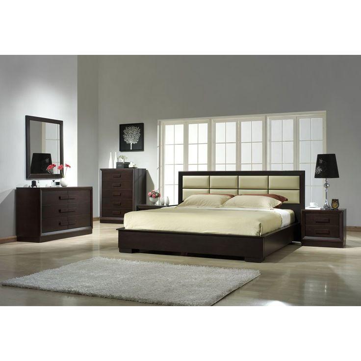 boston 5 pc bedroom set in java by ju0026m